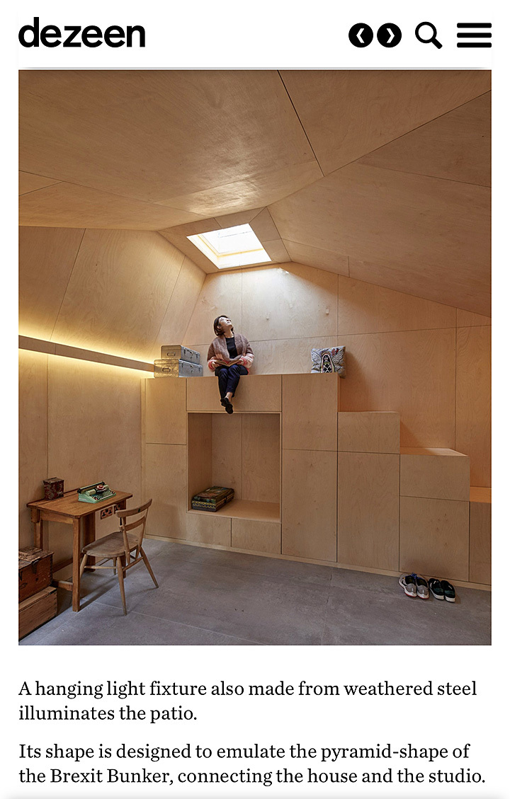 Rise studio feature in published on Dezeen